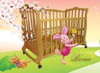 Детская кроватка Трия Весна + 2 ящика