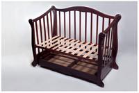 Детская кроватка Трия Ксения Новая + ящик + маятник (скош.быльце)