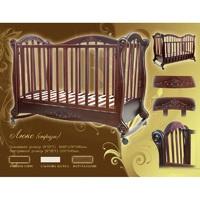 Детская кроватка Трия Люкс + ящик + стразы