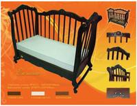Детская кроватка Трия Элегант + ящик + маятник