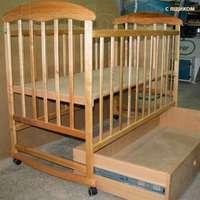 Детская кроватка Харьков Наталка с ящиком (ольха)
