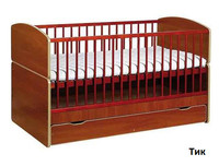 Детская кроватка Bartek II (тик)