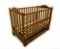 Детская кроватка Sonno KP-6 (темная)