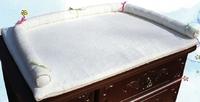 Пеленатор Трия на комод махровый (белый) (80х60см)