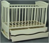 Кроватка Грация + маятник Кнопка с 2 ящиками