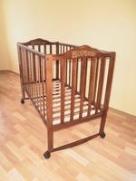 Детская кроватка Sonno KP-300 (ольха темная) без ящика