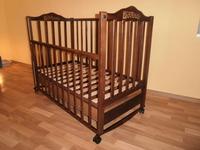 Детская кроватка Sonno KP-300 (ольха темная) с ящиком