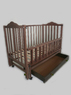 Детская кроватка Sonno ПКР-300 (new) темн с ящиком