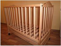 Детская кроватка Sonno KP-300 (ольха светлая) с ящиком