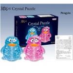 "Пазлы 3D- кристалл ""Пингвин"" 63дет,батар., свет."