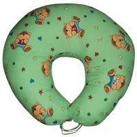 Подушка для кормления Мишки на зеленом (улучшенная)