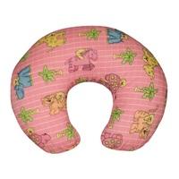 Подушка для кормления розовая со зверятами