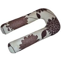 U-образная подушка для беременных Шоколадные цветы