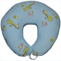 Подушка для кормления Жирафики на голубом (улучшенная)