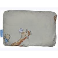 Ортопедическая подушка для новорожденных + съемная наволочка Жирафики на бежевом