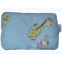 Ортопедическая подушка для новорожденных + съемная наволочка Жирафики на голубом
