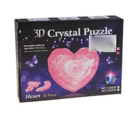 "Пазлы 3D- кристалл ""Сердце"", 43дет,батар., свет."
